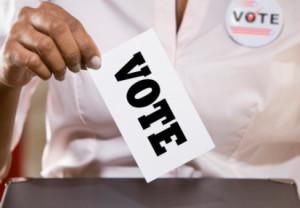 Vote, ballot box