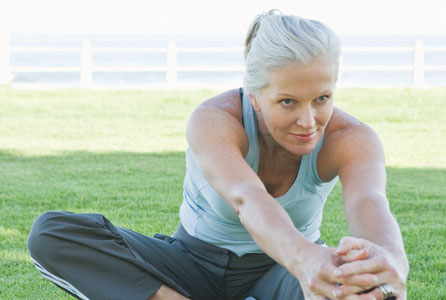 health, woman, stretching