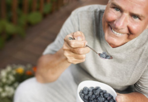 diet, man, blueberries, fruit