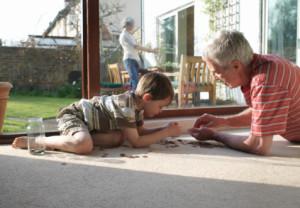 grandparent, grandfather, grandson, outdoors