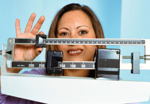 woman, diet, scale, health