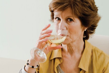 Woman, drinking, wine, alcohol