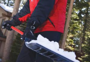 shoveling, man, winter, shovel
