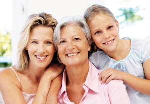 Caregiving, generational, girl, woman, elderly