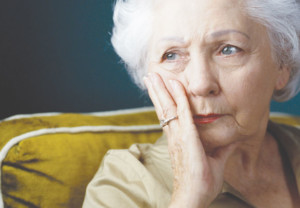 Elderly, woman, depressed, caregiver, dementia, Alzheimer's