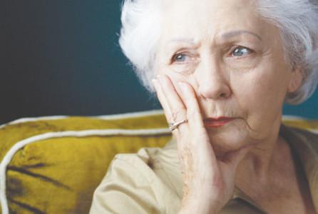Elderly, woman, depressed, caregiver, dementia, Alzheimer's