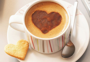 coffee, cappuccino, heart, health