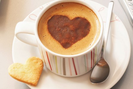 coffee, cappuccino, heart, health