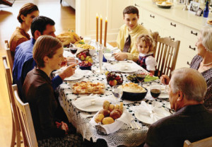 Generational, intergenerational, meal, thanksgiving, dinner