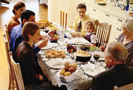 Generational, intergenerational, meal, thanksgiving, dinner