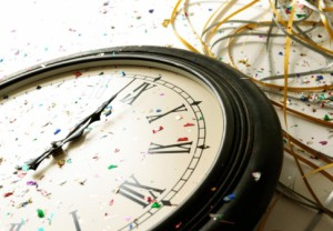 New Year's, clock, countdown,