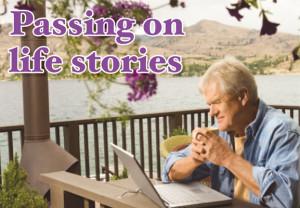 Man, outdoors, retirement, computer,
