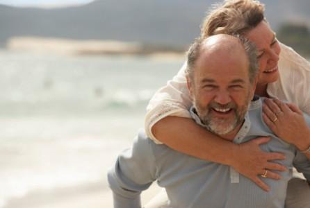 Couple, happy, love, beach