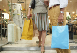Couple, shopping, bags, consumer