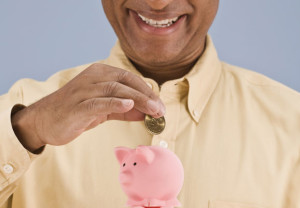 Finance, money, savings, man, piggy bank