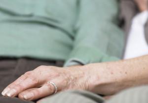 Elderly, couple, caregiver, caregiving