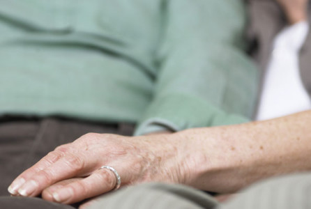 Elderly, couple, caregiver, caregiving