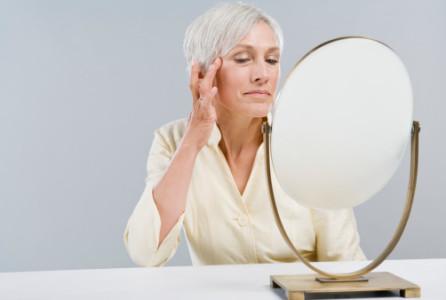 Health, beauty, woman, mirror, aging