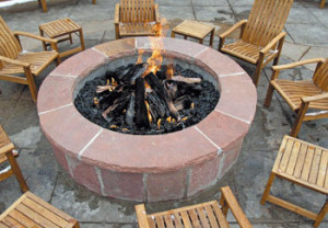 Outdoor, decor, decorating, fire pit