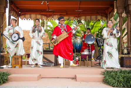BÕnet Al Houwariyate, a multi-generational Berber music and dance troupe from Marrakesh, illuminates the stories and experiences of women in Morocco in lively and interactive performances daily at the Morocco pavilion at Epcot.