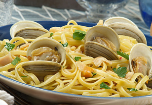 clams, pasta, linguine