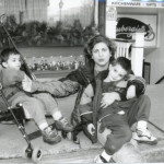 Eggert and her sons Sammy (in stroller) and Benjamin