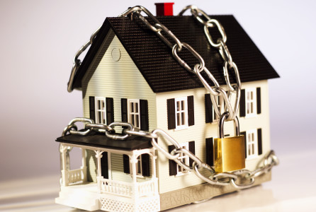 money, finance, house, chained, home,
