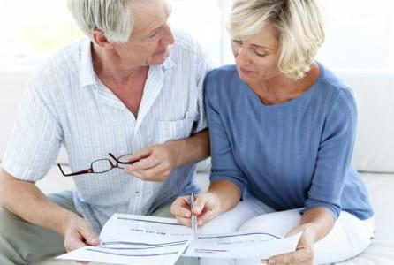 Couple, paperwork, retirement, planning, finance