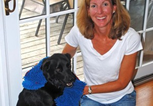 Joanna Rein with her dog, Buddy (Photo - Soggy Doggy Productions)