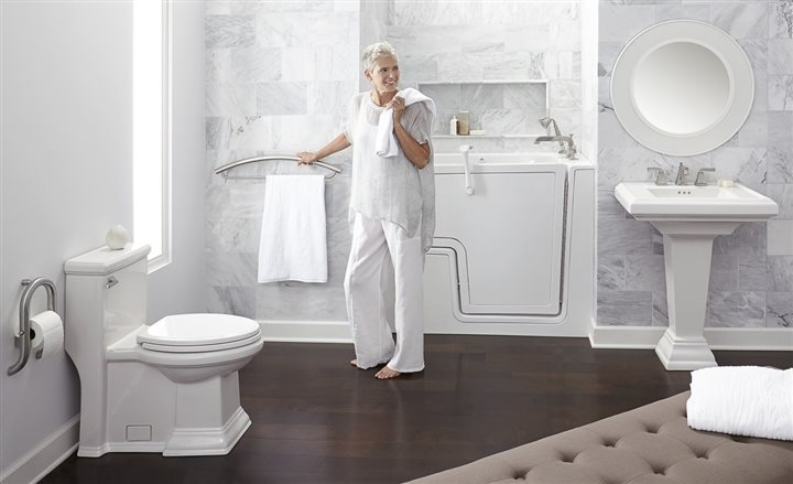 Empty Nesters Stylish Baths With Functionality Fifty Plus Life