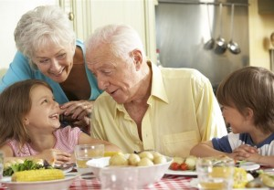 elderly, family, gathering, holidays