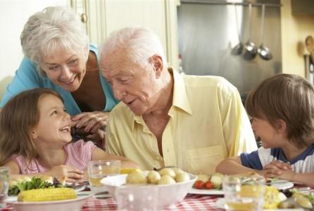 elderly, family, gathering, holidays