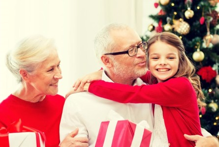 grandparent, Christmas, family, holiday