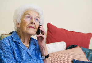 Woman on telephone