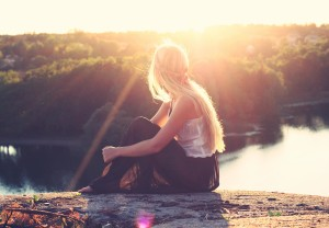 hippy girl meditate