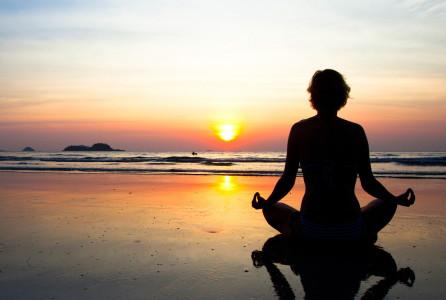 MEDITATION, meditating, woman