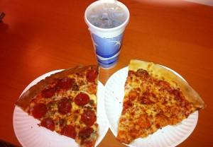 Pizza, soda