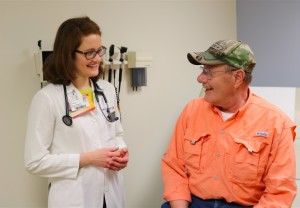 Bill Spence with his doctor, Erin Coglianese