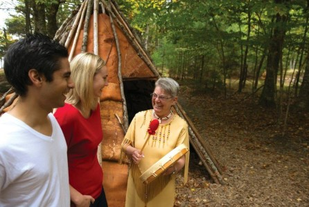 Visitors at First Nation event