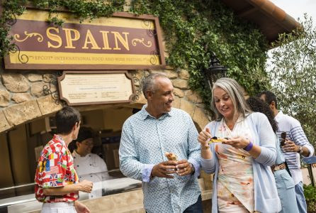 The Epcot International Food & Wine Festival at Walt Disney World Resort in Lake Buena Vista, Fla. features inspired sips and bites at more than 30 marketplaces. Festival guests can pair food with wines, beers, cocktails and ciders as they stroll the promenade guided by a complimentary festival passport. (Matt Stroshane, photographer)