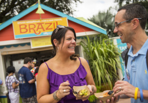 Epcot guests can enjoy the Crispy Pork Belly and other sizzling treats at the Brazil Marketplace during the Epcot International Food & Wine Festival at Walt Disney World Resort in Lake Buena Vista, Fla. (Matt Stroshane, photographer)