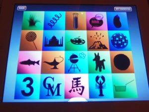 Menus are presented on iPads