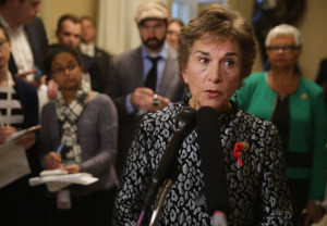 WASHINGTON, DC - DECEMBER 01:  Commerce Committee's new Select Investigative Panel on Planned Parenthood raking member Rep. Jan Schakowsky (D-IL)  talks to reporters during a news conference in the U.S. Capitol December 1, 2015 in Washington, DC. Schakowsky and fellow Democrats were critical of the panel on Planned Parenthood and abortion, which they have dubbed the 'Select Committee to Attack Women's Health.'  (Photo by Chip Somodevilla/Getty Images)