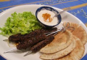 Grilled Ground Lamb Kebabs
