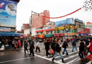 Queens street scene