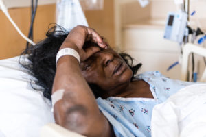 Lola Cal, 74, was hospitalized with pneumonia at the UCLA Medical Center in Santa Monica, California. Cal's medical records showed she was taking 36 medications at the time she was admitted. (Heidi de Marco/KHN)