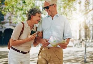 couple happy outdoors