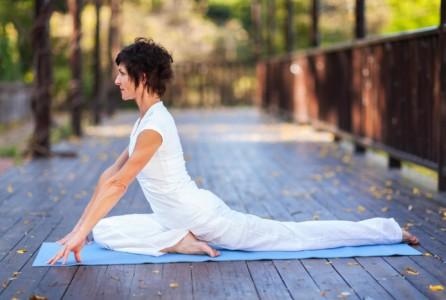female woman exercise yoga
