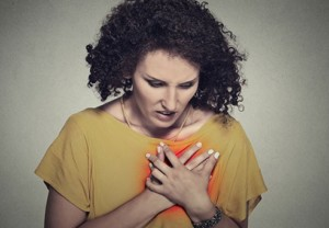Heart attack woman medical