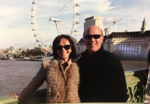 Mindy and her husband in London